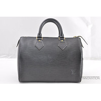 Authentic Louis Vuitton Epi Speedy 25 Hand Bag Black LV 39409