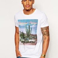 ASOS T-Shirt With Summer Camp Print - White