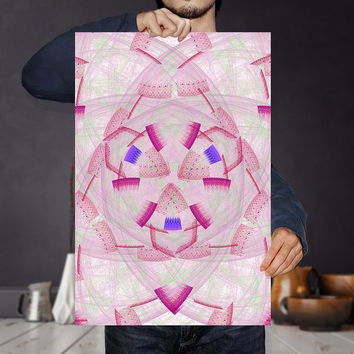 Pattern Pink Wall Art Print - Abstract Geometric Poster - Fractal Art, Digital Download | Abstract Nursery Decor by Mila Tovar