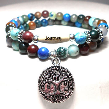 CHOOSE YOUR WORD Earthy Inspirational Beaded Bracelet