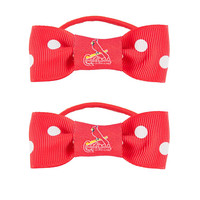St. Louis Cardinals MLB Bow Pigtail Holder