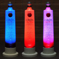 Ciroc Red Berry Vodka Color Changing LED Remote Controlled Eco Friendly rgb LED Bottle Lamp/Party Light -French Vodka -Bodacious Bottles-
