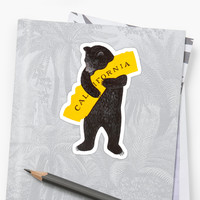 'I Love You California' Sticker by Binary Studio