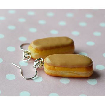 Maple Bar Doughnut Hook Dangle Earring Mini Food Jewelry