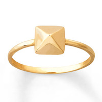 Pyramid Ring 14K Yellow Gold