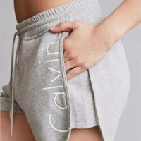 Fashion Online Letters Printed Casual Pants Shorts