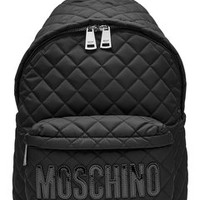 Quilted Backpack - Moschino | WOMEN | US STYLEBOP.com
