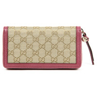 Gucci Bree Original GG Zip Around Purse