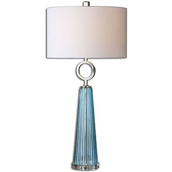 """34""""H Navier  1-Light Table Lamp Polished Nickel"""