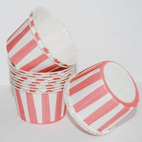 PINK Stripe Candy Cups Nut cups Baking cupcake by isakayboutique