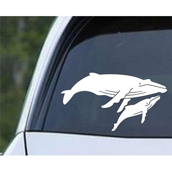 Whale with Baby Die Cut Vinyl Decal Sticker