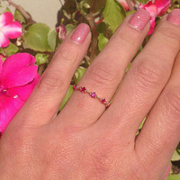 20% off-SALE!! Ruby Ring - Gold Ring - Stack Ring - Dainty Ring - Fuchsia Ring - Tiny Ring - July Birthstone Ring - Simple Ring