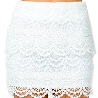 Tiered Crochet Princess Skirt