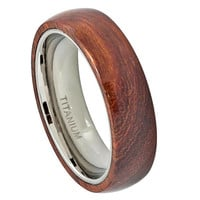 Titanium Ring,Titanium Wedding Band,Titanium Wood Rings,His,Hers,Promise Ring for Men Women,Engagement,Hawaiian Koa Wood Inlay, SNUJDTIQGY