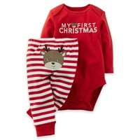 "carter's® 2-Piece ""My First Christmas"" Bodysuit and Pant Set"