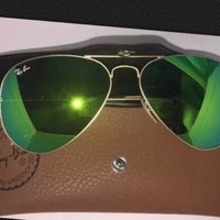 Ray Ban Sunglasses ; Aviator Flash Lens