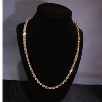 14k Genuine Gold Rope Chain weighing over 51 grams!