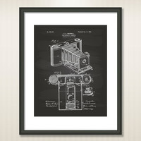 Photographic Camera 1902 Patent Art Illustration - Drawing - Printable INSTANT DOWNLOAD - Get 5 Colors Background