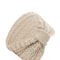 FOREVER 21 Textured Knit Headwrap Taupe One