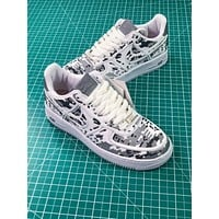 Nike Air Force 1 Af1 Low Grey Digita Camo Sport Shoes