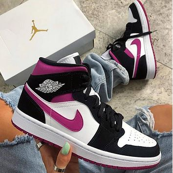 NIKE Air Jordan 1 Mid AJ1 Zhongbang Basketball Shoes