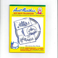 Aunt Martha's 3285 Morning Glory & Southern Belle Hot Iron Transfers for Pillow Cases Embroidery, Textile Painting, Needlepoint, UNUSED