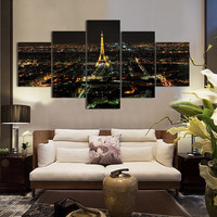 Free shipping 5PCS Eiffel Tower Oil Printed Painting Oil Painting On Canvas Home Decorative Art Picture F/1185