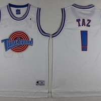 Space Jam Movie Jersey #! TAZ White Jersey