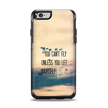 The Pastel Sunset You Cant Fly Unless You Let Yourself Fall Apple iPhone 6 Otterbox Symmetry Case Skin Set