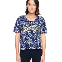 Regent Leopard 3/4 Sleeve Graphic Tee by Juicy Couture