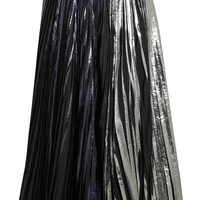 Proenza Schouler - Pleated metallic coated cloqué maxi skirt