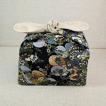 Cotton Handmade Bento Bag - Navy Blue