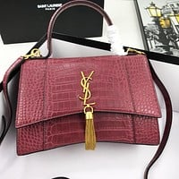 YSL Bag Saint Laurent Bag Shoulder Bag Handbag Bag Burgundy