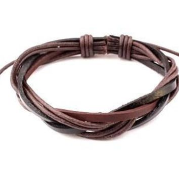 Awesome Hot Sale Great Deal Shiny Stylish Gift New Arrival Leather Fashion Cool Accessory Handcrafts Korean Jewelry Bracelet [6542272003]