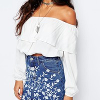 Glamorous Off Shoulder Festival Top at asos.com