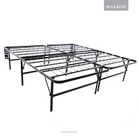 "MALOUF Structures Highrise Foldable Bed Frame & Mattress Foundation - 18"" Deluxe Height - Cal King California King"