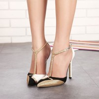 Rhinestone Pointed Stiletto Heels