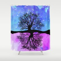Sophie's Dream Tree Shower Curtain by studiomarshallarts