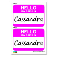Cassandra Hello My Name Is - Sheet of 2 Stickers