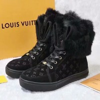 Louis Vuitton Women Fashion Casual Flats Shoes Boots Shoes-4