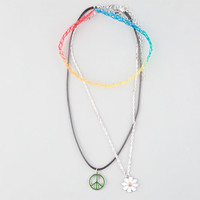 3 Pack Tattoo Choker/Peace/Flower Necklaces Multi One Size For Women 25929395701
