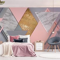 beibehang Custom Photo Wallpaper Mural Nude Pink Square 3d Polygonal Lighting TV Background Wall wall papers home decor