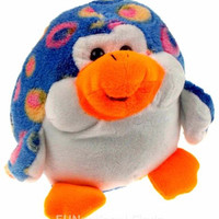 Kipp Puffy Plush Blue Penguin Spotted Squeeze Squeaking Stuffed Animal Soft Toy