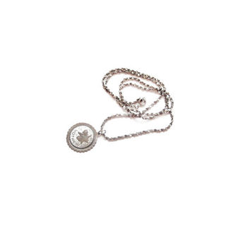 MOTHER Pendant Necklace, Silver Chain