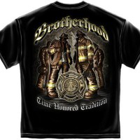 NEW FIREFIGHTER Shirt BROTHERHOOD TIME HONORED TRADITION T-SHIRT SIZE X-LARGE