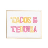 Tacos and Tequila Bar Cart Art Print