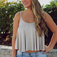 Essential Autumn Crop Top - Sand
