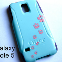 Galaxy Note 5 OTTERBOX Case - Otterbox Commuter Glitter Case for Galaxy Note 5 - Sparkly cat print, New Samsung Galaxy Note 5