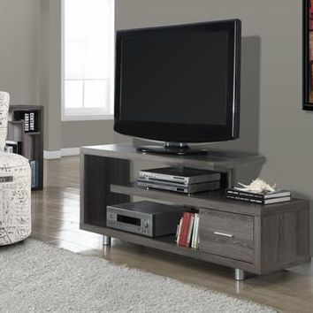 "I 2574 Dark Taupe Reclaimed-Look 60""L TV Console"