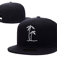 BARONL Palm Trees Tropical Beach Adjustable Snapback Embroidery Caps Hats
